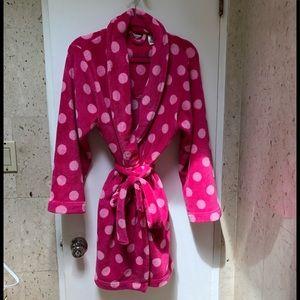 Pink  Polka Dot Robe M